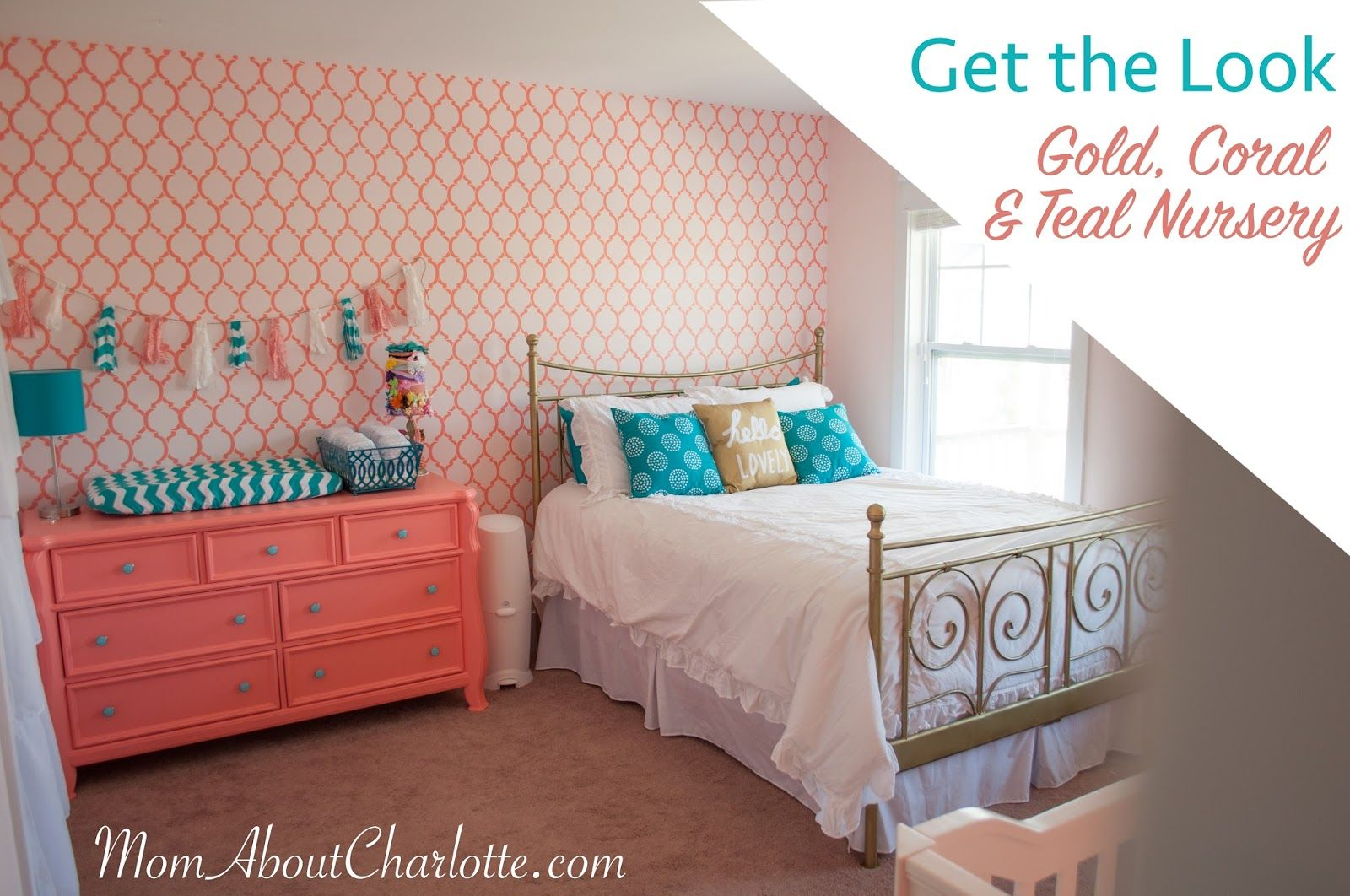 gold coral  teal nursery get the look with images