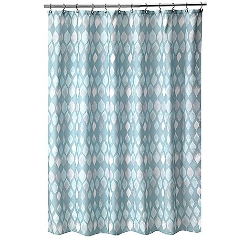 Home Decor Designer Shell Rummel Sea Glass Shower Curtain In Teal
