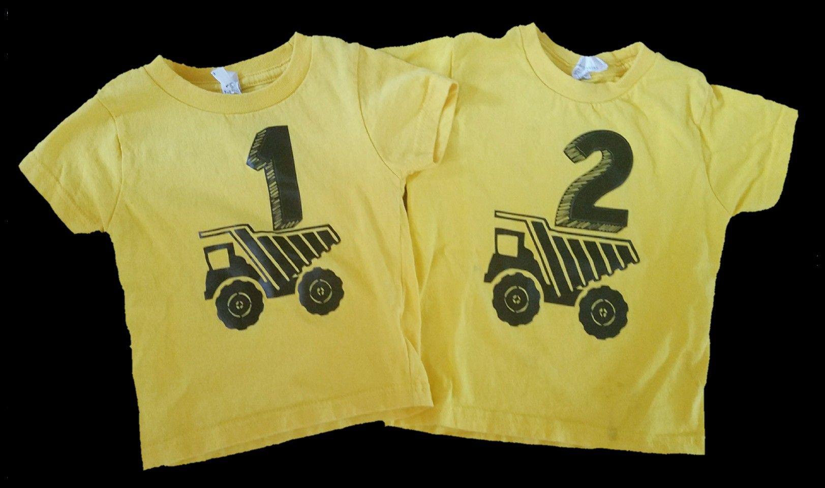 Kids Construction Birthday Shirts 1st Shirt 2nd Yellow And Black