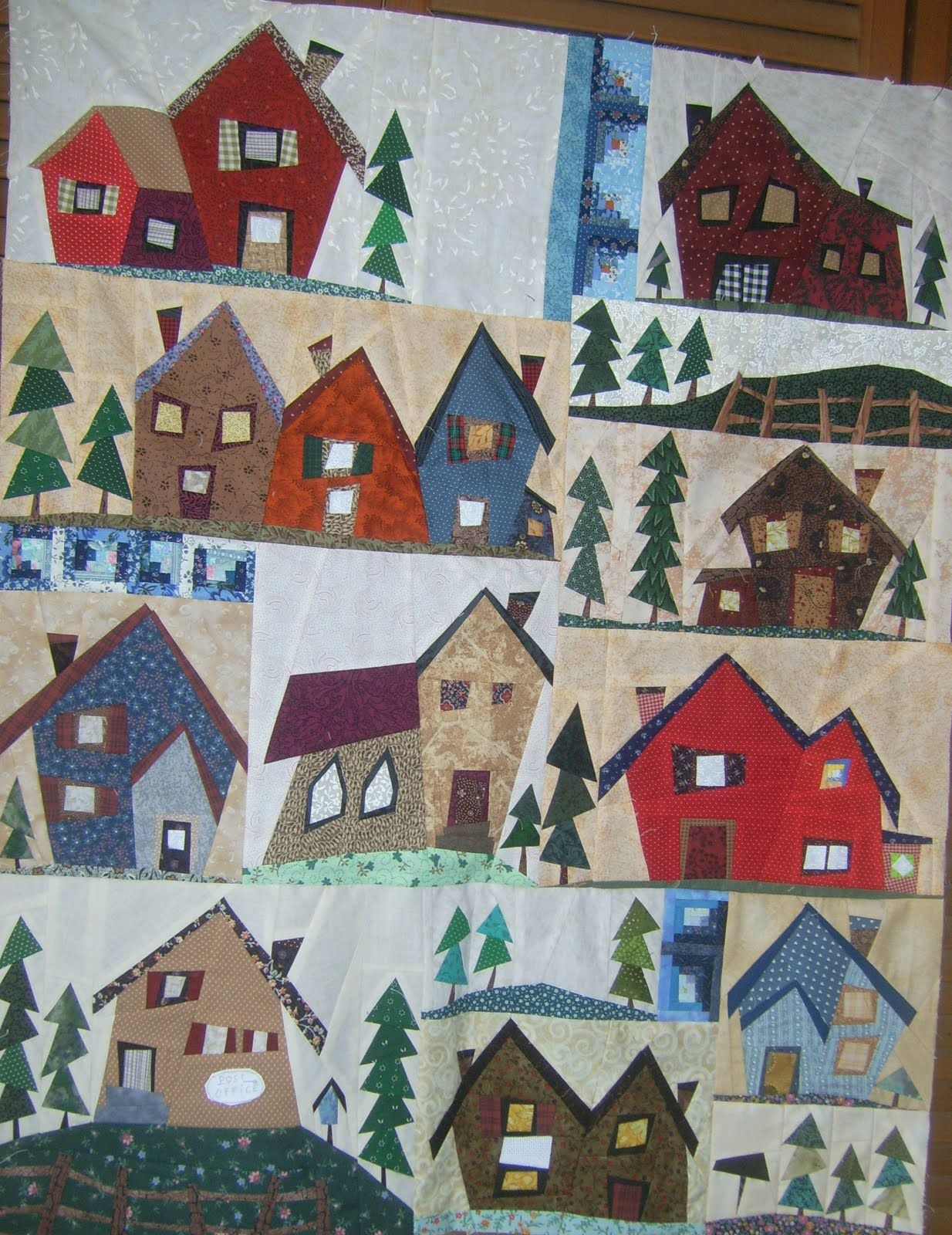 sulky village - Google zoeken | Sulky AWESOME Paper pieced houses ...