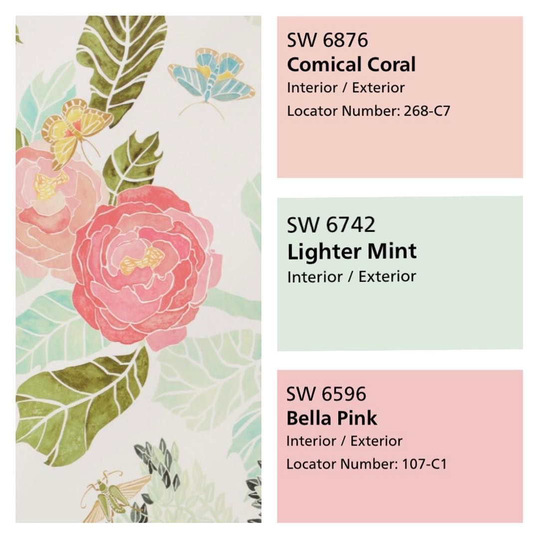 Sherwin Williams pink blush and mint paint color scheme. Brylies ...
