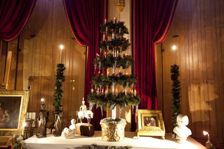 Part of the recreation of Queen Victoria's Christmas.