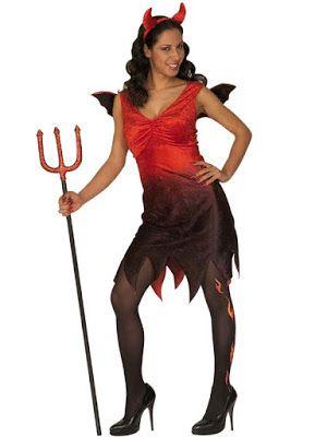 Halloween Kostume Kvinde Djævle Kjole
