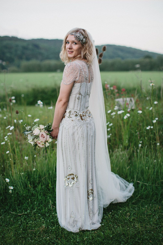 Jenny Packham Eden Dress & Acacia Headpiece with mis-match vintage ...