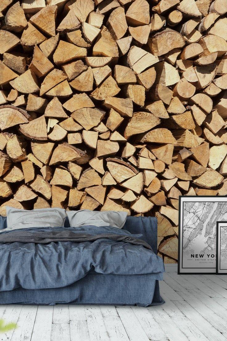 Log pile Wall Mural - Wallpaper