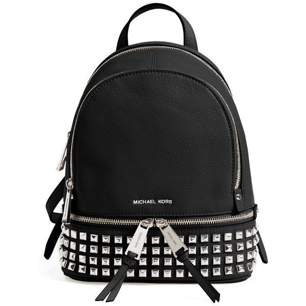 7f18f65c4021 MICHAEL Michael Kors  Extra Small Rhea Zip  Studded Backpack ( 298) ❤ liked  on Polyvore featuring bags
