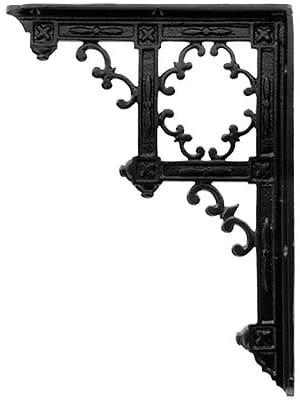 Photo of Victorian Gothic Cast Iron Shelf Bracket – 9 1/4 x 6 3/4″