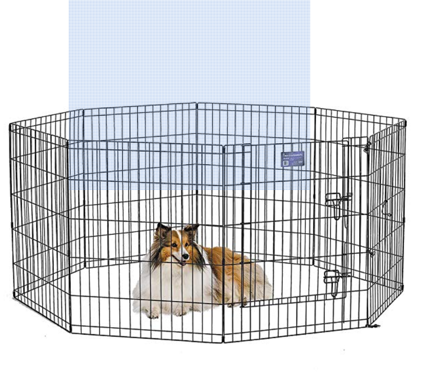 Outdoor Dog Pens Midwest Homes For Pets Exercise Pen For Pets With Split Max Lock Door 36inch Black Click Imag Pets For Sale Pet Playpens Large Dog Crate