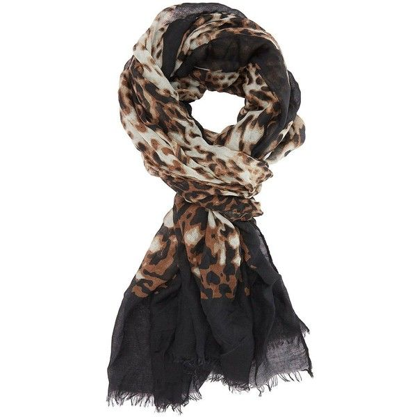 Charlotte Russe Brown Combo Leopard Print Border Scarf by Charlotte... (14 CAD) ❤ liked on Polyvore featuring accessories, scarves, brown combo, charlotte russe, long shawl, leopard print shawl, leopard shawl and long scarves