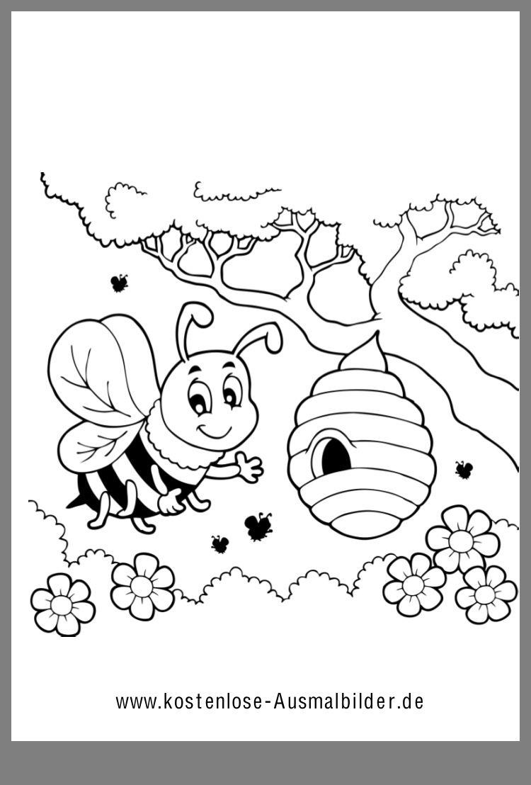 Ausmalbild Kostenlose Ausmalbilder Bienen Basteln Ausmalbild