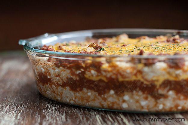 Sour Cream Rice Bake - sehr lecker! tolle Alternative zu Lasagne, falls es mal keine Nudeln geben soll