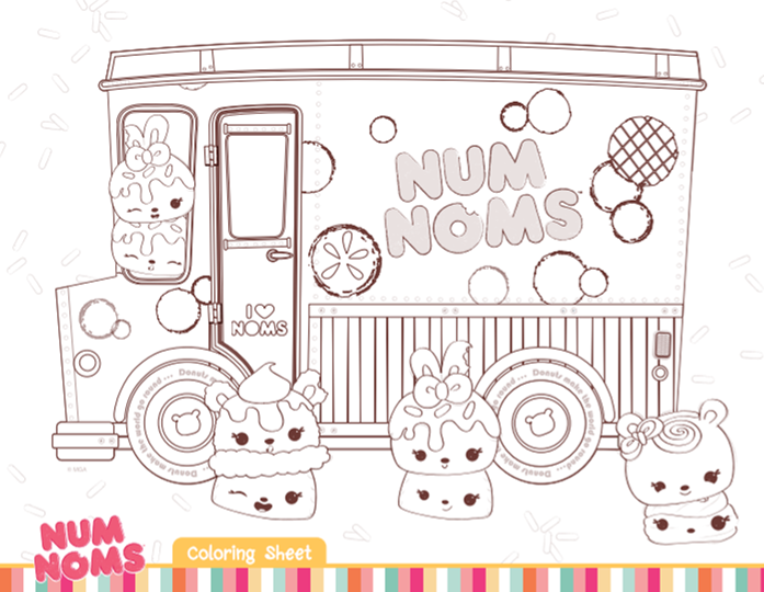 Num Noms Coloring Sheets Are A Cute Addition To A Num Noms Themed