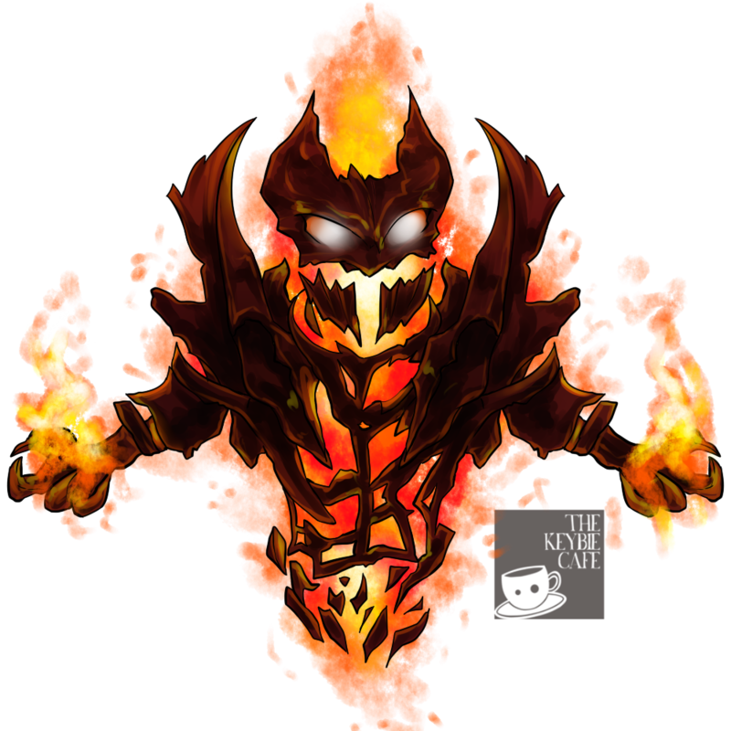 DOTA2 keybies Shadow Fiend (Demon Eater) Desain logo