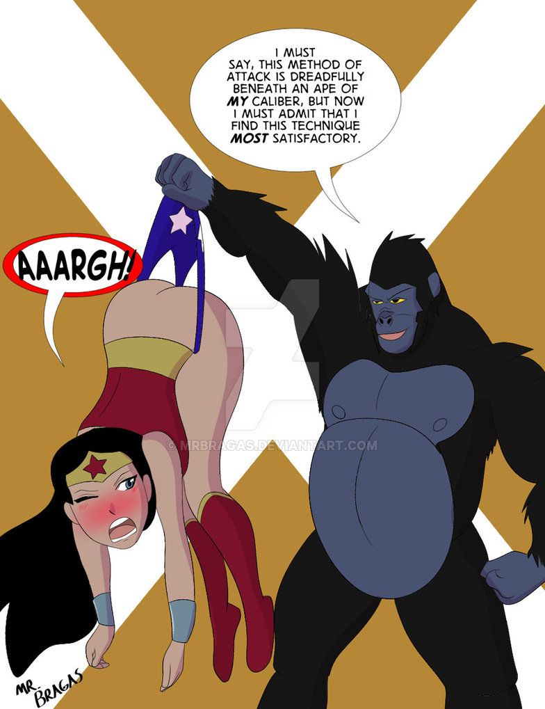 Commission - Wonder Woman Vs Grodd By Mrbragas On -9313