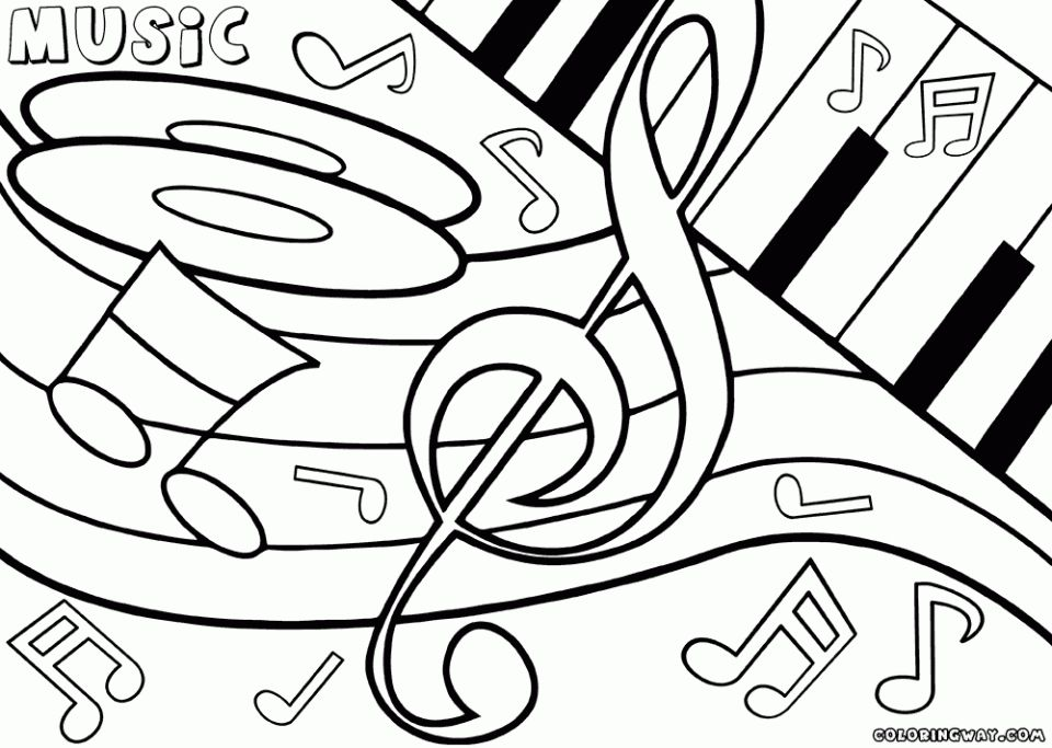 Easy Printable Music Coloring Pages For Children 51156 Coloring Pages Music Coloring Coloring Pages Inspirational