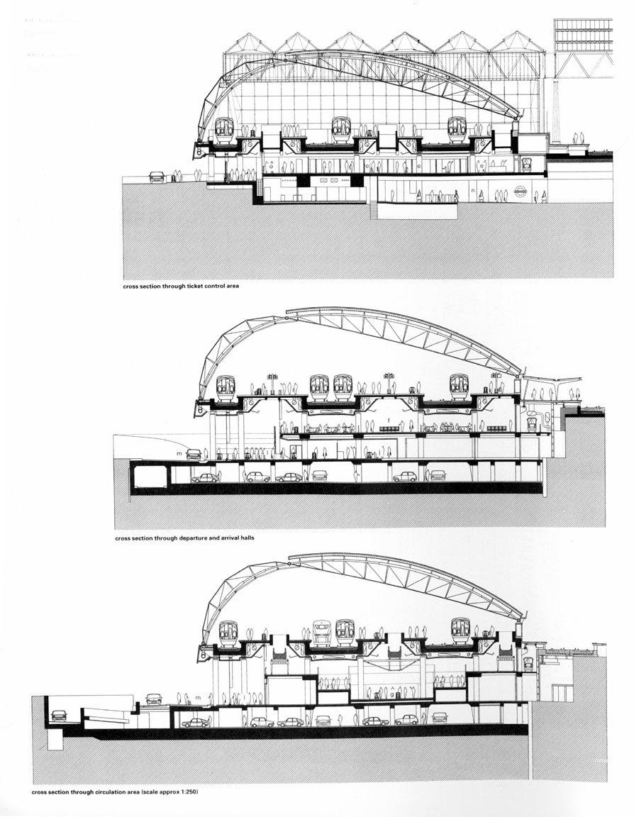 Section Through Waterloo International Terminal Nicholas