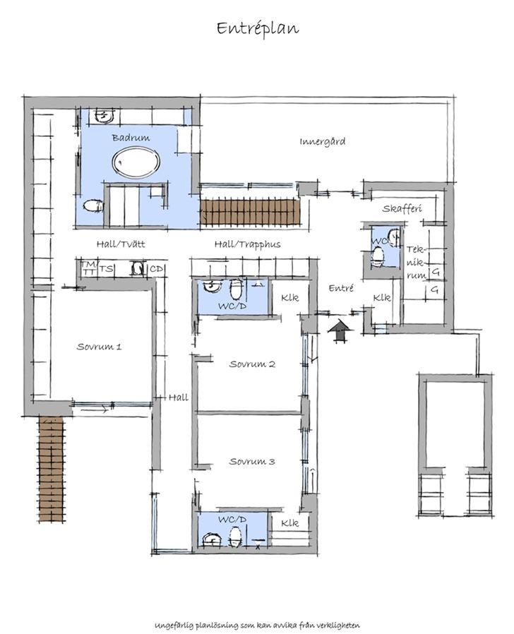 Floor plan blueprint groundfloor of the nilsson villa for Villa interior design floor plan