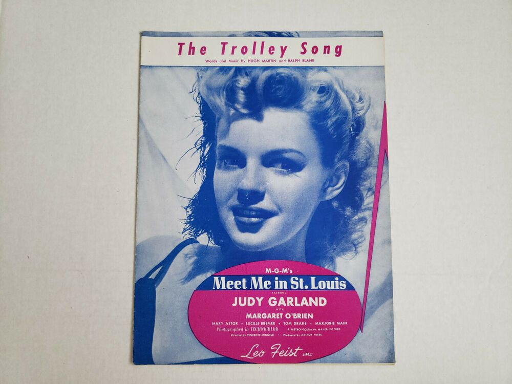 Vintage The Trolley Song Sheet Music Songbook #vintagesheetmusic