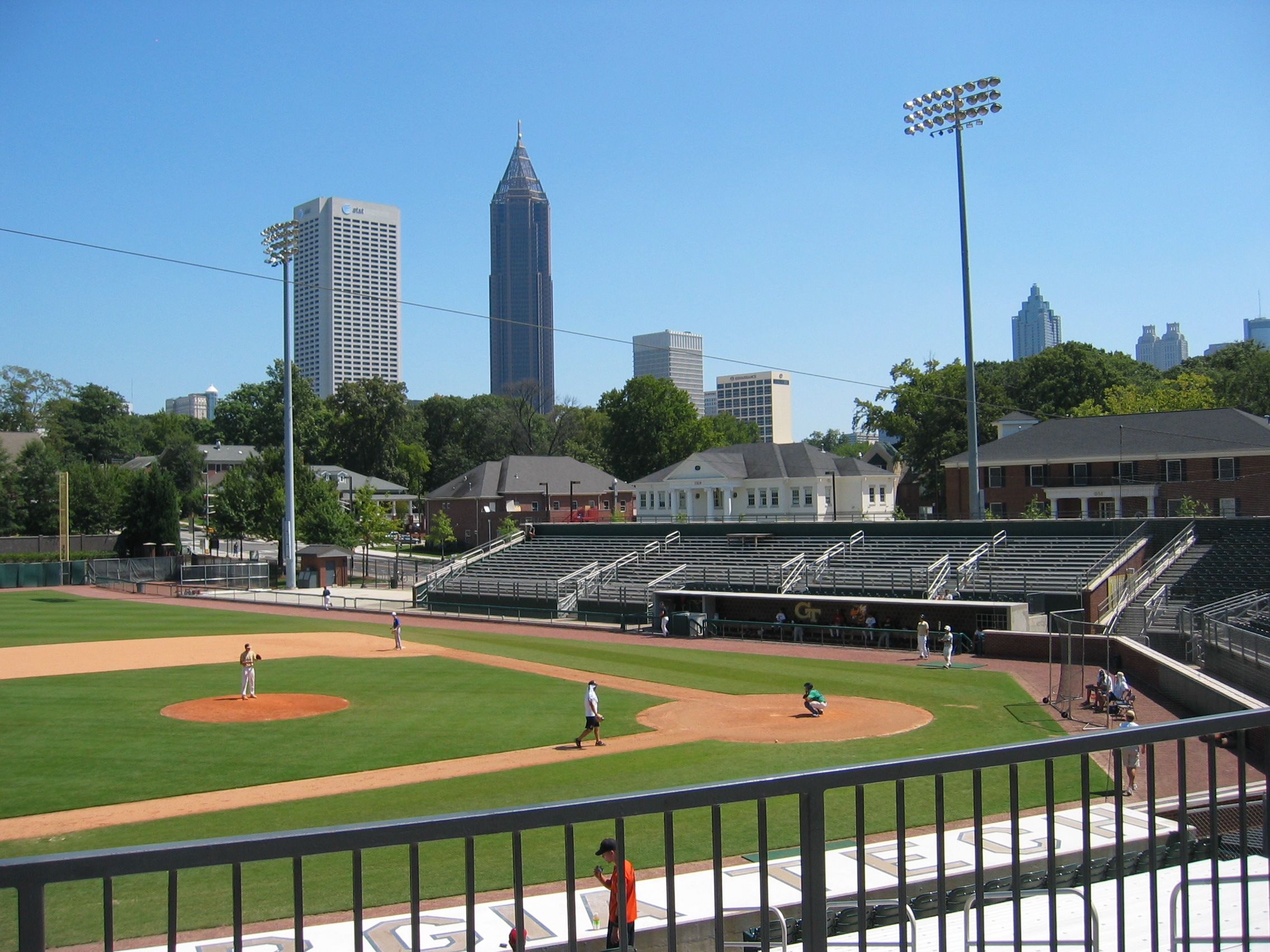 Russ Chandler Stadium Home Of Georgia Tech Baseball Has Some Great City Views Of Atlanta Georgia Tech Yellow Jackets Georgia Tech States In America