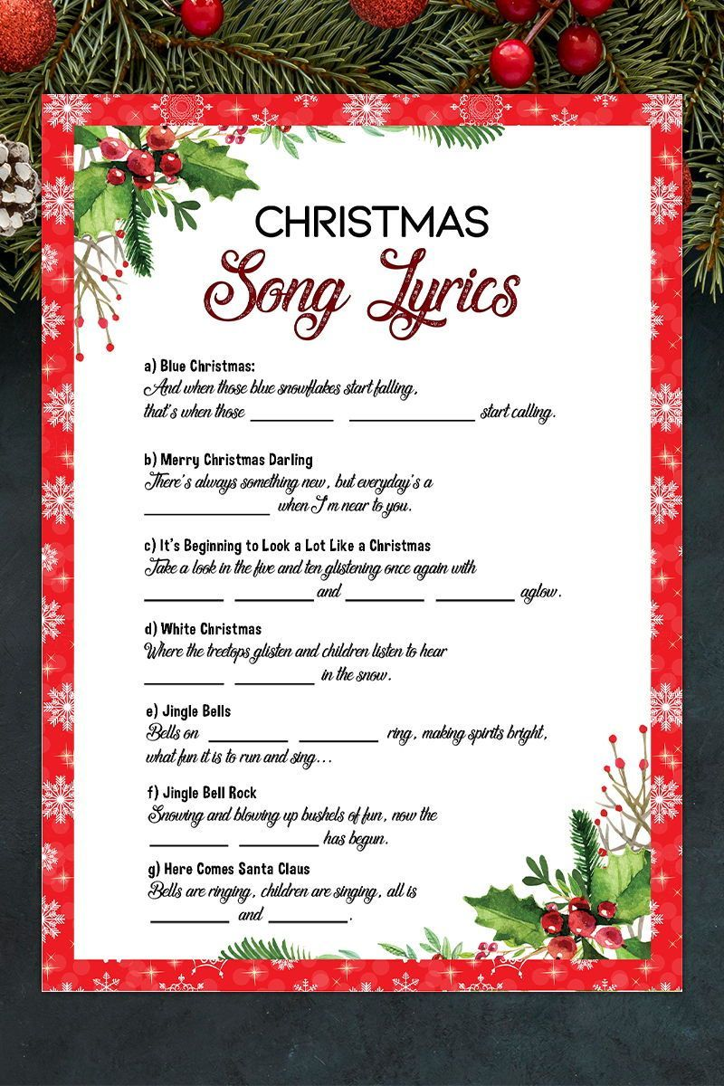 Christmas Song Gameholiday Party Gameprintable Christmas Etsy In 2020 Christmas Song Games Christmas Song Merry Christmas Darling