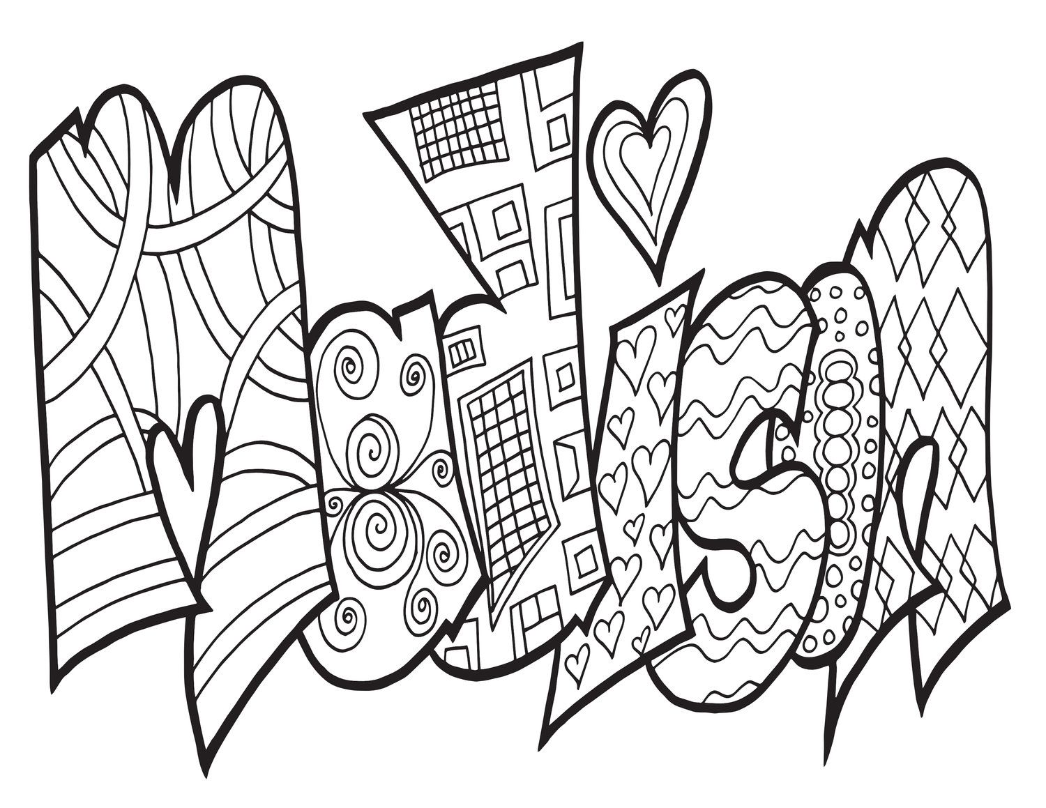 Click Here To Download Your Free Madison Coloring Page Get Any Name Or Word As A Hand Dr Love Coloring Pages Unique Coloring Pages Printable Coloring Pages