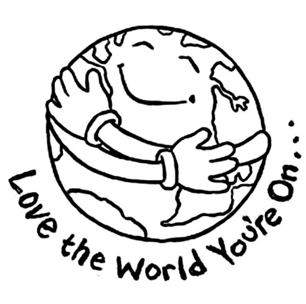 earth day coloring pages Earth Day Love the World You are On at