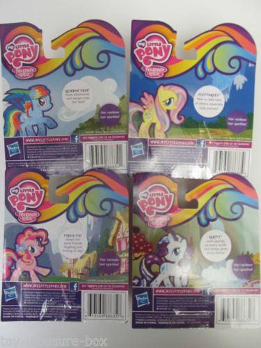 Four My Little Pony Figures Rainbow Power Rarity Pinkie Fluttershy Rainbow Ebay My Little Pony Figures My Little Pony Friends Little Pony