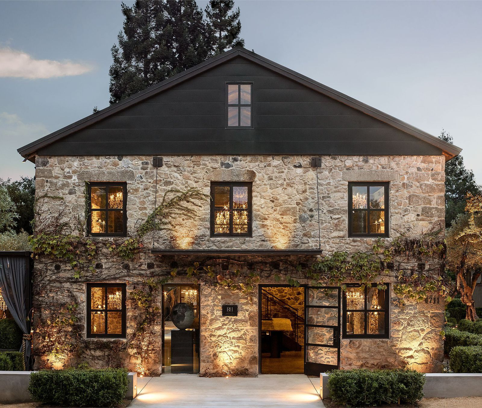 You Can Shop And Have A Glass Of Wine At Restoration Hardware S New California Compound House Designs Exterior House Design Exterior Design