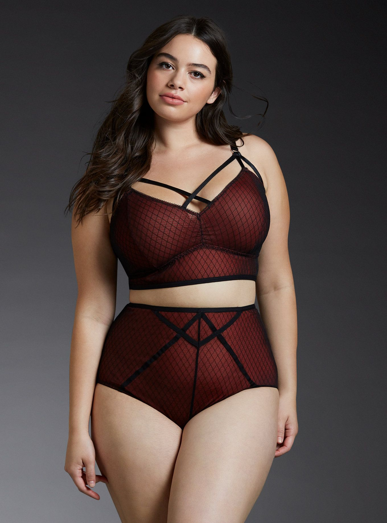 5432e6f4de56d ... lingerie in plus sizes that are designed to flatter every BODY. Strappy  Mesh Bralette