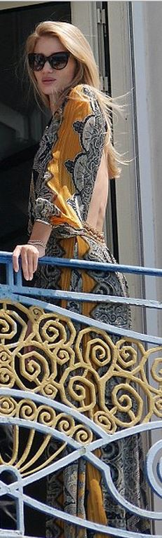 Yellow print maxi dress