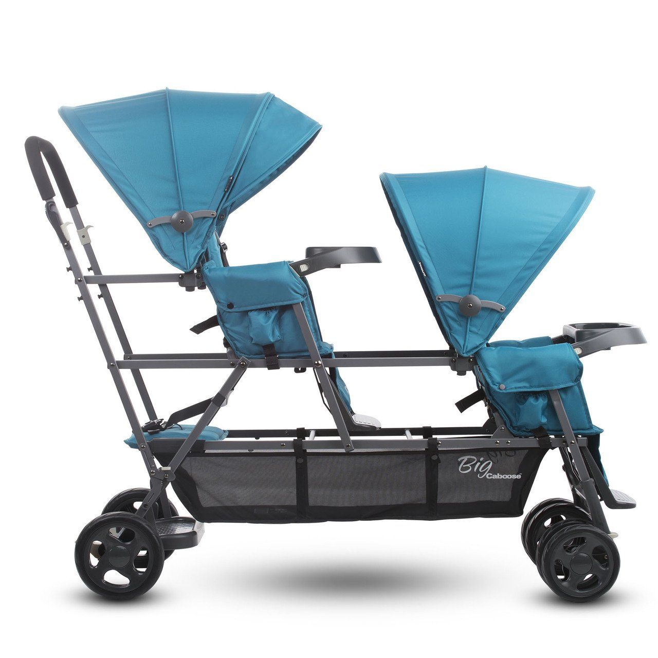 Joovy Big Caboose Graphite Sit and Stand Triple Stroller