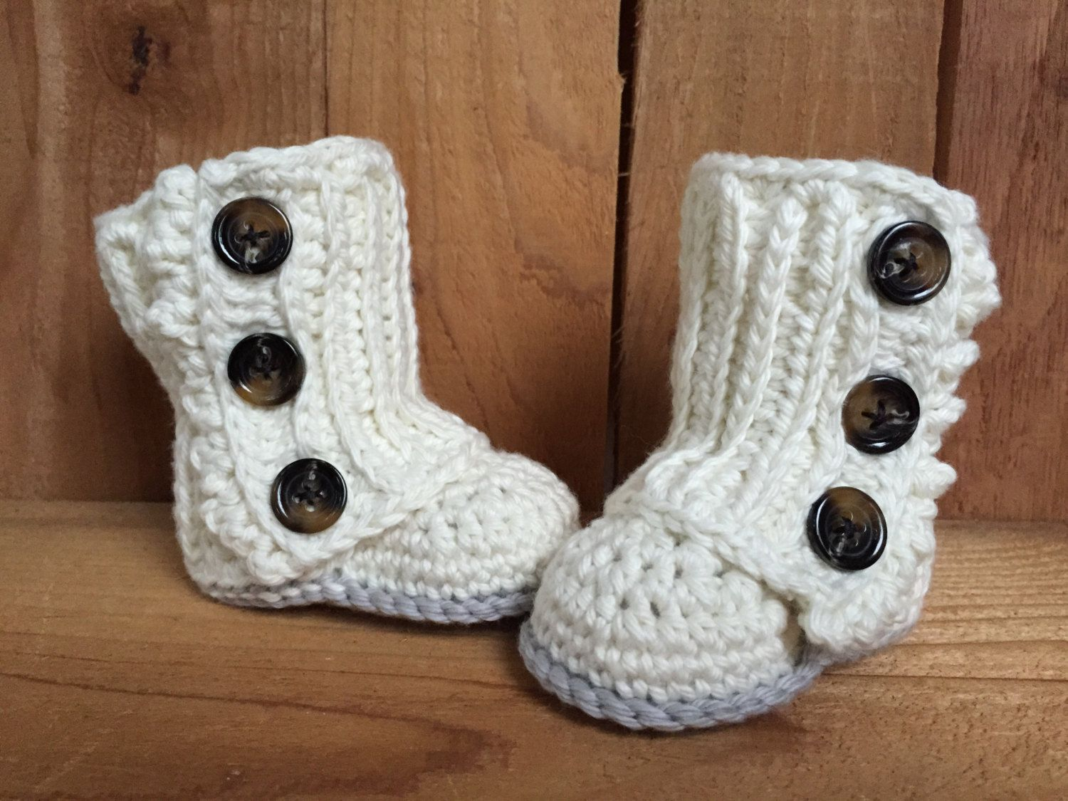 Crocheted baby wrap boots, baby boots, baby wrap boots, baby ...