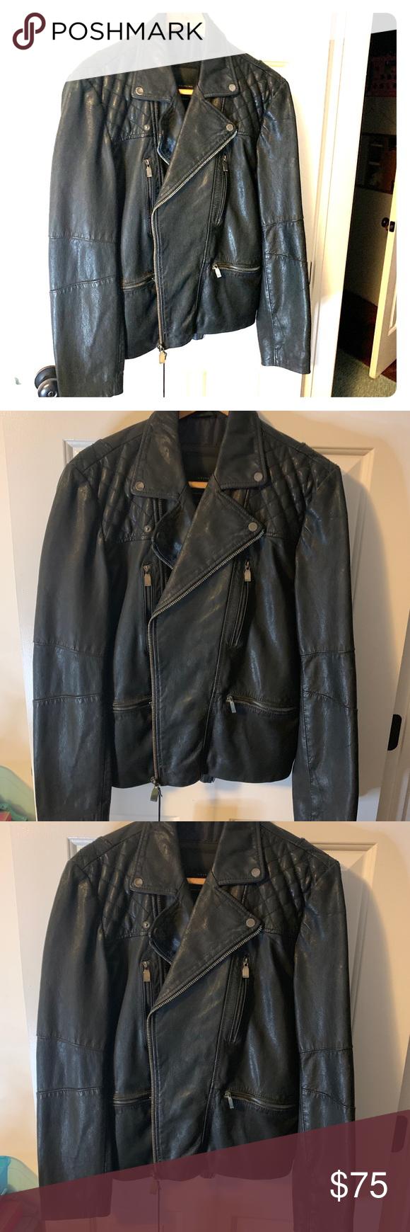 Black Leather Jacket Zara man leather jacket never worn