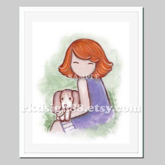 Beagle Painting Childrens Wall Art Baby Girl Nursery By Rkdsign88 18 00 Baby Wall Art Childrens Wall Art Beagle Art