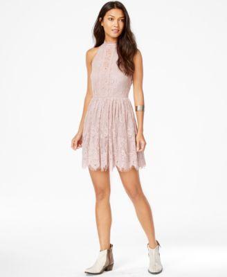 Trixxi plus size a-line scuba dresses