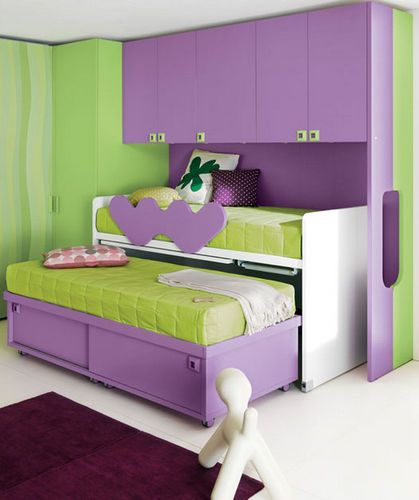 chambre d 39 enfant pour fille idea 3 klou xl by battistella sur pinterest d couvrez les. Black Bedroom Furniture Sets. Home Design Ideas