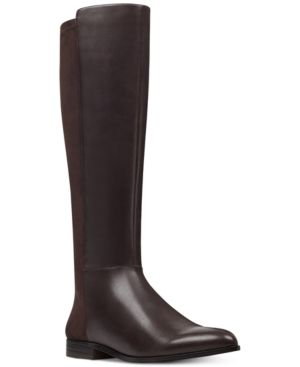 9572b9416a9 Nine West Owenford 50 50 Wide Calf Boots - Brown 8.5M