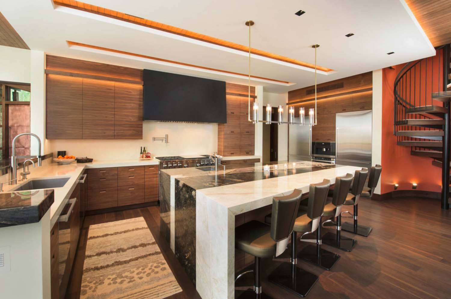 sumptuous mountain contemporary home in vail colorado kitchen design best kitchen designs home on kitchen interior top view id=93506