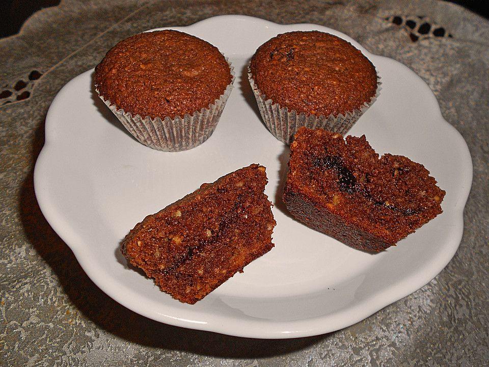 Nussige Nutella - Muffins mit Schokoladenkern