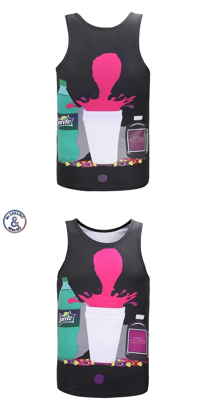 16b79ae538ce 2017 Mr.1991INC Newest fashion 3d vest men women tank tops funny print  Splash drink cool summer tops tees