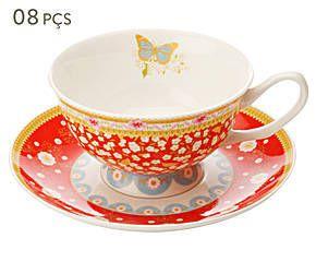 Conjunto de Xícaras para Chá com Pires Enchante Veronique - Maxwell & Williams