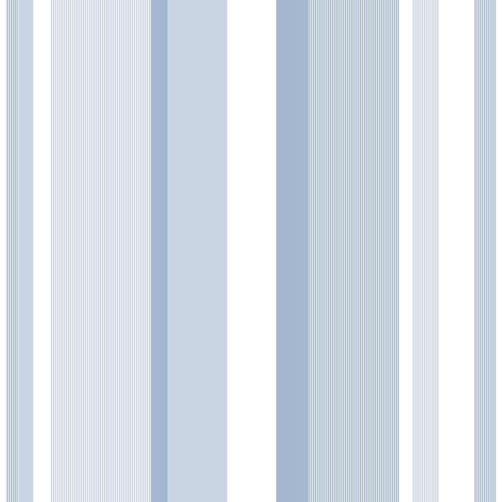 Nuwallpaper Blue Awning Stripe Vinyl Strippable Wallpaper Covers 30 75 Sq Ft Nu1402 The Home Depot Nuwallpaper Stripe Removable Wallpaper Peel And Stick Wallpaper