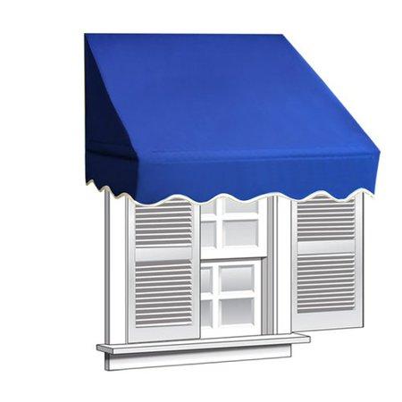 Aleko 6 X 2 Window Awning Door Canopy Blue Color Walmart Com Window Awnings Door Canopy Awning Canopy