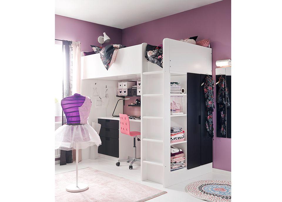 Tiny Box Room Ikea Stuva Loft Bed Making The Most Of: Stuva Catolog Ikea Loft Bed Purple Room