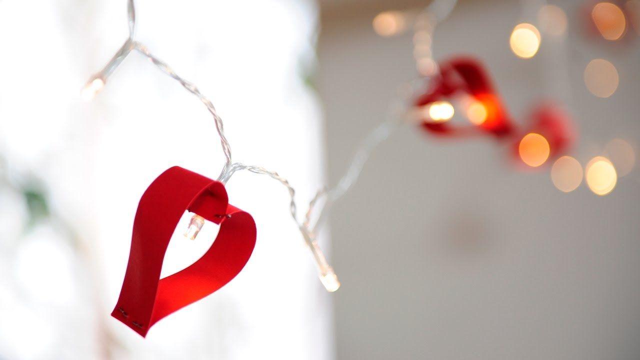 Idee per San Valentino: decorazione luminosa con cuori