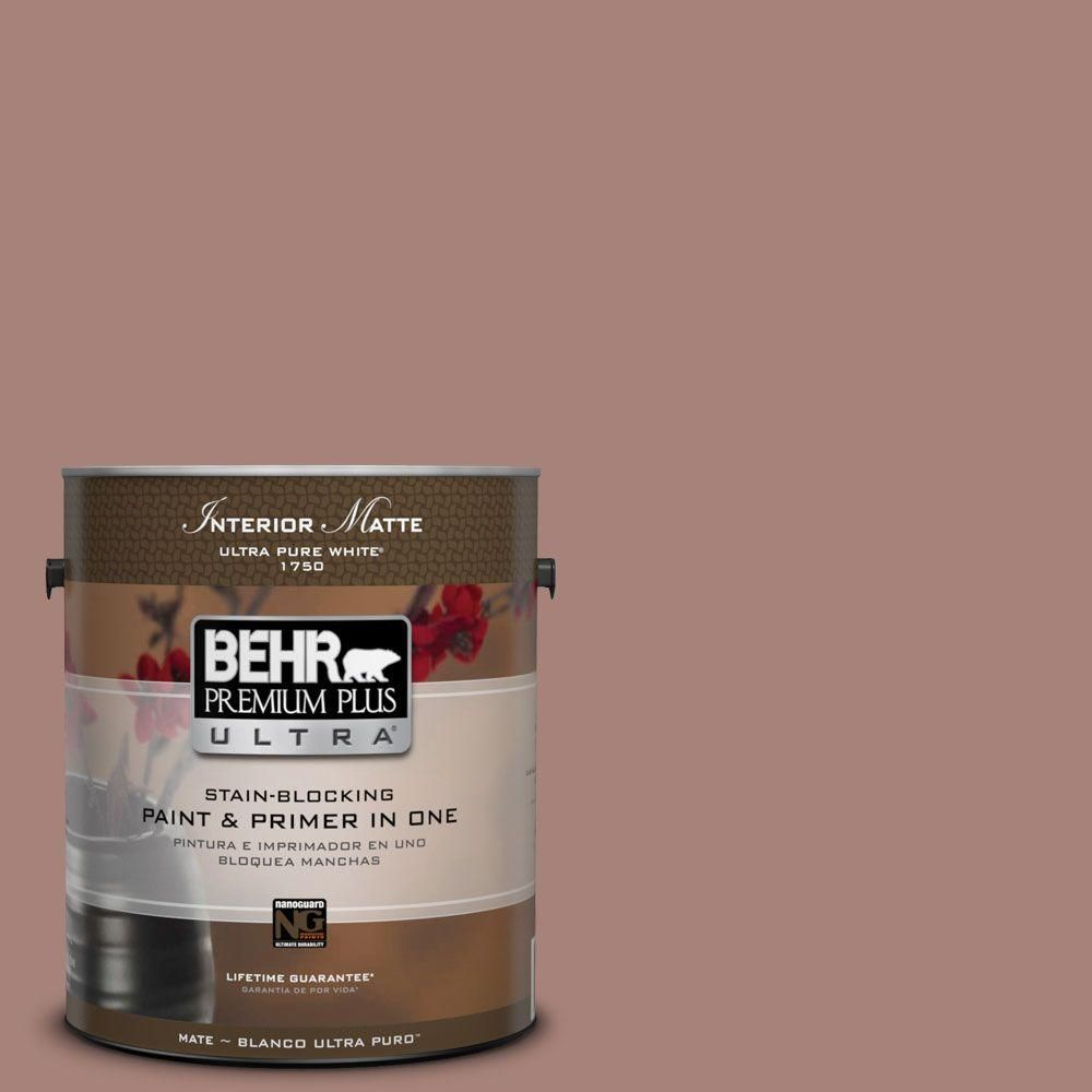 BEHR Premium Plus Ultra Home Decorators Collection 1 gal. #hdc-NT-07 Hickory Branch Flat/Matte Interior Paint