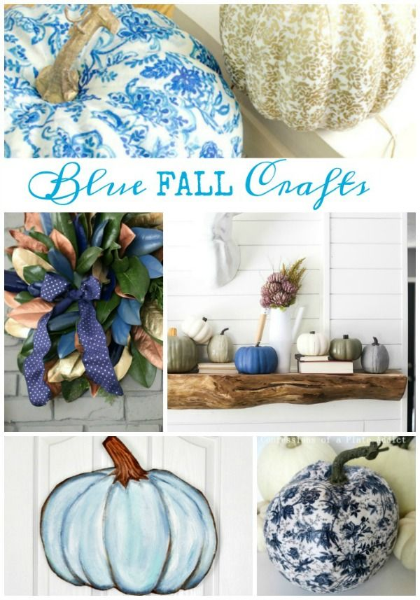 Do It Yourself Home Decorating Ideas: 20+ Blue Fall Home Decor Ideas