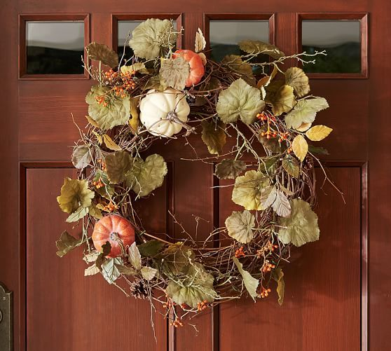 Wreaths Garlands Pottery Barn With Images Diy Fall Wreath Fall Thanksgiving Wreaths Fall Wreath