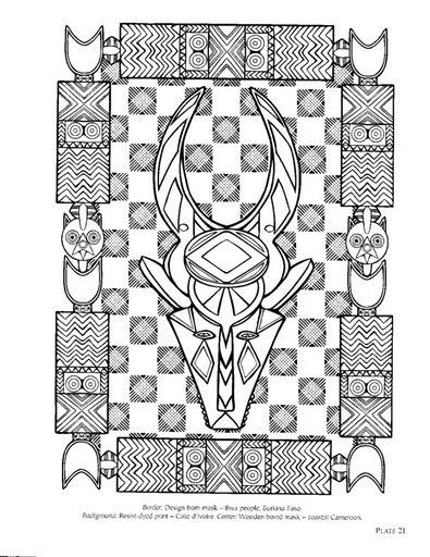 Afrika Designs Coloring Books Pattern Coloring Pages Dover Coloring Pages