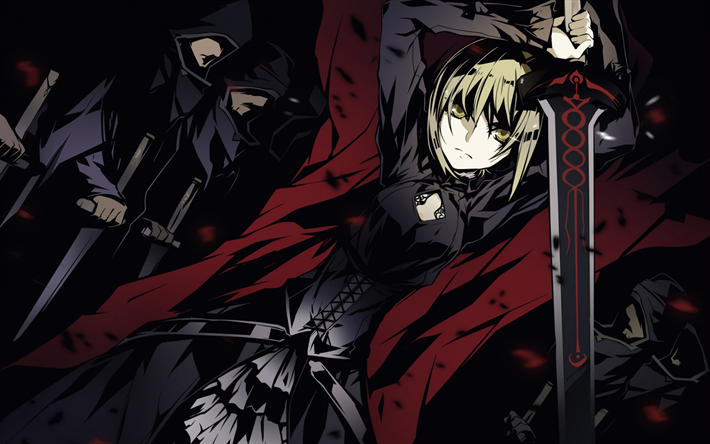 Download wallpapers Fate, japanese manga, Fate Stay Night